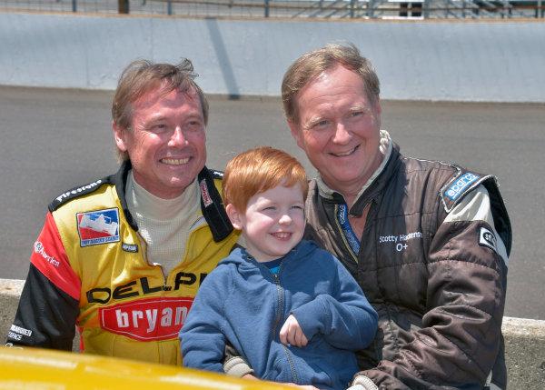 6-8 June, 2014, Indianapolis, Indiana USA Mark Dismore, Scott Hackenson, and son ?2014 Dan R. Boyd LAT Photo USA