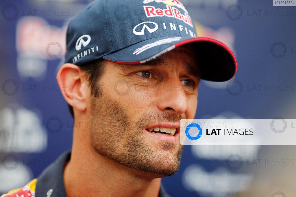 Bahrain International Circuit, Sakhir, Bahrain Friday 19th April 2013 Mark Webber, Red Bull Racing.  World Copyright: Steven Tee/LAT Photographic ref: Digital Image _14P7531