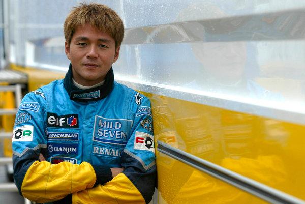 2003 Formula One Testing.Satoshi Motoyama, Renault F1 Test.Jerez, Spain.9-11 December 2003.World Copyright:Spinney/LAT Photographic.Ref.: Digital Image Only.