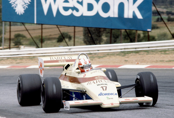 1984 South African Grand Prix.Kyalami, South Africa.5-7 April 1984.Marc Surer (Arrows A6 Ford) 9th position.Ref-84 SA 70.World Copyright - LAT Photographic