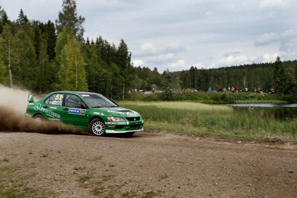 Round 08-Neste Rally Finland 1/8-4/8 2012.Jari Nikara, Mitsubishi Lancer IX WRC, Action.Worldwide Copyright: McKlein/LAT