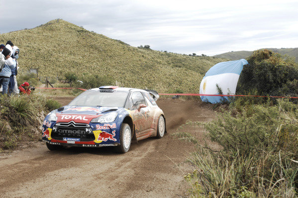 Sebastien loeb (FRA) and Daniel Elena (MC), Citroen DS3 WRC, on stage 3. FIA World Rally Championship, Rd5, Philips Rally Argentina, Day 1, Carlos Paz, Cordoba, Argentina, Friday 27 April 2012.