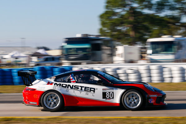 2017 Porsche GT3 Cup USA Sebring International Raceway, Sebring, FL USA Wednesday 15 March 2017 80, Tom Haacker, GT3P, USA, M, 2017 Porsche 991 World Copyright: Jake Galstad/LAT Images ref: Digital Image lat-galstad-SIR-0317-14884