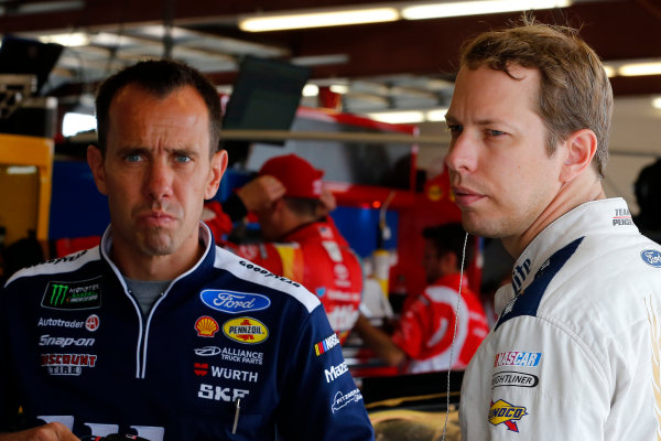 Monster Energy NASCAR Cup Series Tales of the Turtles 400 Chicagoland Speedway, Joliet, IL USA Saturday 16 September 2017 Paul Wolfe and Brad Keselowski, Team Penske, Miller Lite Ford Fusion World Copyright: Russell LaBounty LAT Images