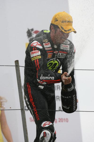 Germany Sachsenring 16-18 July 2010Toni Elias Gresini Racing Moto2 sprays the winners champagne