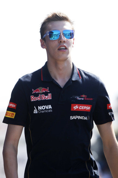 Circuit de Catalunya, Barcelona, Spain. Friday 9 May 2014. Daniil Kvyat, Toro Rosso. World Copyright: Charles Coates/LAT Photographic. ref: Digital Image _N7T8470
