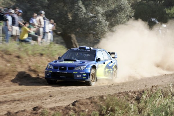 2007 FIA World Rally ChampionshipRound 8Acropolis Rally of Greece31/5-3/6  2007Petter Solberg, action, SubaruWorldwide Copyright: McKlein/LAT