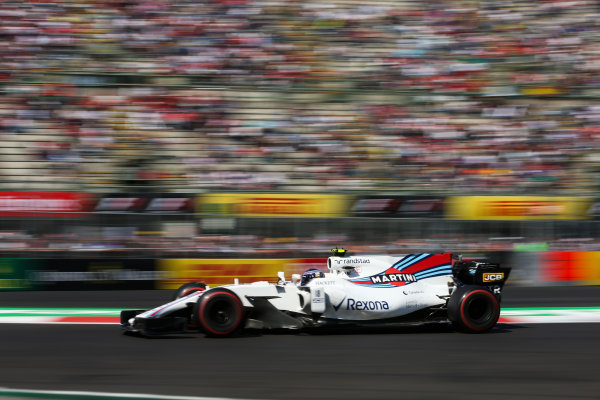 Autodromo Hermanos Rodriguez, Mexico City, Mexico. Friday 27 October 2017. Lance Stroll, Williams FW40 Mercedes. World Copyright: Charles Coates/LAT Images  ref: Digital Image DJ5R1310