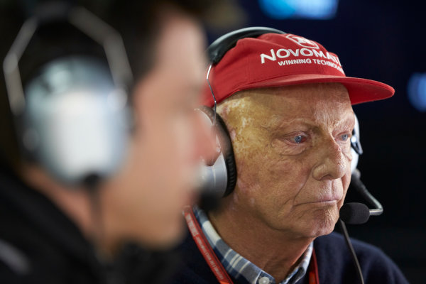 Interlagos, Sao Paulo, Brazil. Saturday 11 November 2017. Niki Lauda, Non-Executive Chairman, Mercedes AMG. World Copyright: Steve Etherington/LAT Images  ref: Digital Image SNE16387