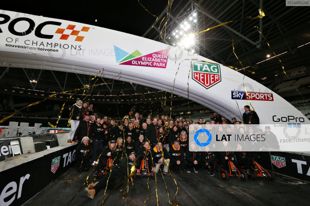 2015 Race Of Champions Olympic Stadium, London, UK Saturday 21 November 2015 The ROC Team Photo Copyright Free FOR EDITORIAL USE ONLY. Mandatory Credit: 'IMP'