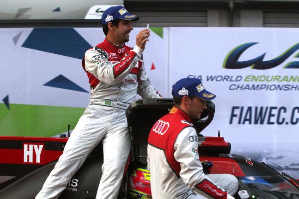 2016 FIA World Endurance Championship, Spa-Francorchamps, Belgium. 5th - 7th May 2016. Lucas di Grassi / Loic Duval / Oliver Javis - Audi Sport Team Joest Audi R18. World Copyright: Ebrey / LAT Photographic.
