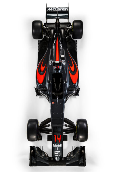 McLaren Honda MP4-31 Reveal. Woking, UK. Friday 19 February 2016. The McLaren Honda MP4-31. Photo: McLaren (Copyright Free FOR EDITORIAL USE ONLY) ref: Digital Image _X0W8549
