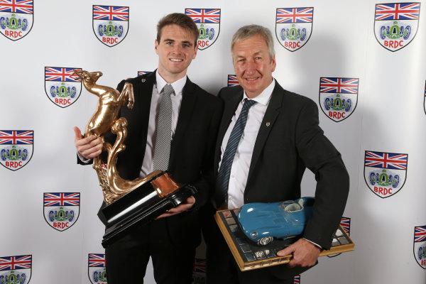 2015 British Racing Drivers Club Awards Grand Connaught Rooms, London Monday 7th December 2015 Oliver Rowland and Richard Dutton. World Copyright: Jakob Ebrey/LAT Photographic ref: Digital Image RowlandDutton-02