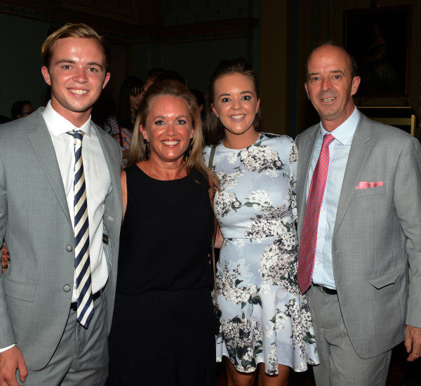 Andrew Westacott (AUS) Australian GP CEO with his son Charly, wife Tina and daughter Amy at Official Grand Prix Welcome Reception at Government House at Formula One World Championship, Rd1, Australian Grand Prix, Preparations, Albert Park, Melbourne, Australia, Thursday 23 March 2017.