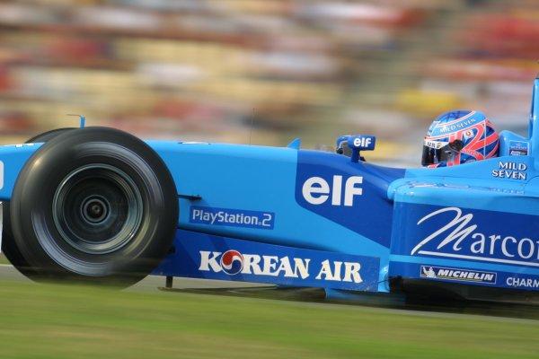 2001 German Grand Prix - RaceHockenheim, Germany. 29th July 2001Jenson Button, Benetton Renault B201, action.World Copyright - LAT PhotographicRef: 9 MB Digital File Only