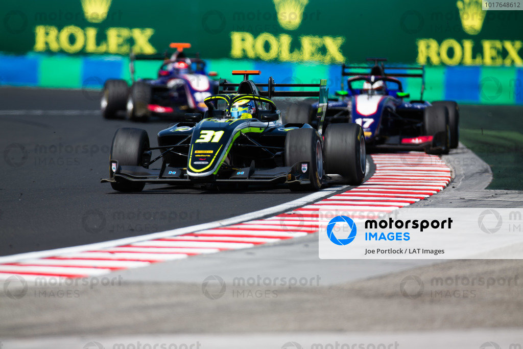 HUNGARORING, HUNGARY - AUGUST 04: Logan Sargeant (USA, Carlin Buzz Racing) during the Hungaroring at Hungaroring on August 04, 2019 in Hungaroring, Hungary. (Photo by Joe Portlock / LAT Images / FIA F3 Championship)
