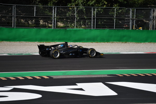 AUTODROMO NAZIONALE MONZA, ITALY - SEPTEMBER 07: Jean Alesi tests the new Pirelli 18 inch tyres for next seasons F2 Car during the Monza at Autodromo Nazionale Monza on September 07, 2019 in Autodromo Nazionale Monza, Italy. (Photo by Simon Galloway / LAT Images / FIA F2 Championship)