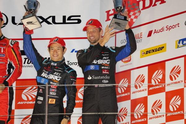 Naoki Yamamoto & Jenson Button, RAYBRIG HONDA NSX-GT, third in GT500