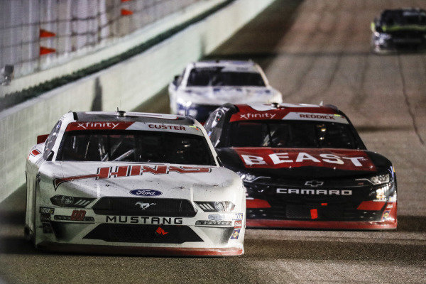 #00: Cole Custer, Stewart-Haas Racing, Ford Mustang Haas Automation, #2: Tyler Reddick, Richard Childress Racing, Chevrolet Camaro TAME the BEAST pass for the lead and championship