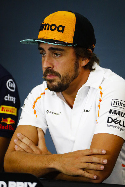 Fernando Alonso, McLaren, in the Thursday press conference.