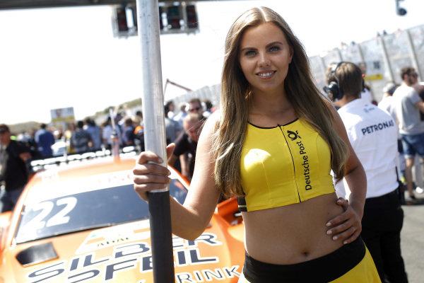 Grid girl of Lucas Auer, Mercedes-AMG Team HWA.