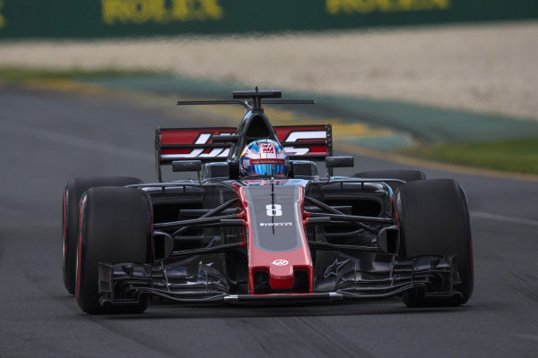 Romain Grosjean (FRA) Haas VF-17 at Formula One World Championship, Rd1, Australian Grand Prix, Qualifying, Albert Park, Melbourne, Australia, Saturday 25 March 2017.