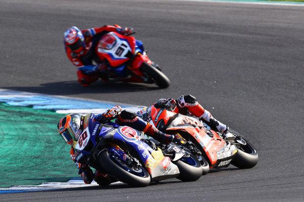 Michael van Der Mark, Pata Yamaha, Chaz Davies, ARUBA.IT Racing Ducati, Leon Haslam, Team HRC.