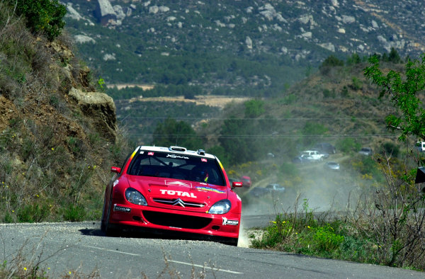 2002 World Rally ChampionshipRally Catalunya, 21st-24th March 2002.Sebastien Loeb on Stage 3.Photo: Ralph Hardwick/LAT