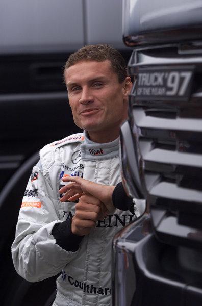2001 Belgian Grand Prix - RaceSpa Francorchamps, Belgium. 2nd Spetember 2001.David Coulthard, West McLaren Mercedes MP4/16, portrait.World Copyright: Steve Etherington/LAT Photographicref: 17 5mb Digital Image Only