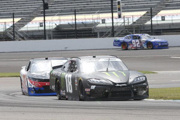 #18: Riley Herbst, Joe Gibbs Racing, Toyota Supra Monster Energy, \#39: Ryan Sieg, RSS Racing, Chevrolet Camaro CMRRoofing.com
