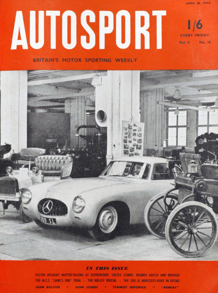 Cover of Autosport magazine, 18th April 1952