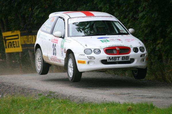 2007 British Rally Championship,Rally Yorkshire, 6th October 2007,Matt Beebe, MGZRWorld Copyright: Ebrey/LAT Photographic.