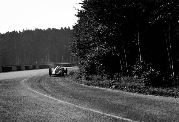 Bremgarten, Berne, Switzerland. 20th August 1939.Hermann Muller (Auto Union D), 7th position, action. World Copyright: LAT Photographic.Ref:  39CHRF