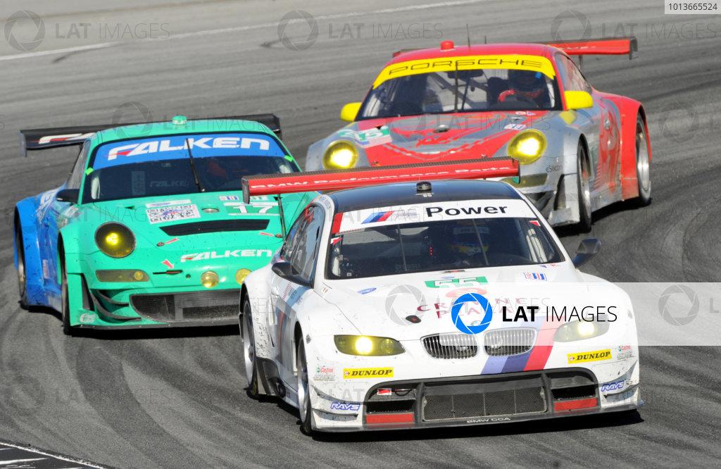 16-18 September, 2011, Monterey, California USA#55 BMW Team RLL BMW E92 M3 with #17 Porsche and #45 Porsche.(c)2011,  Dan R. Boyd  LAT Photo USA