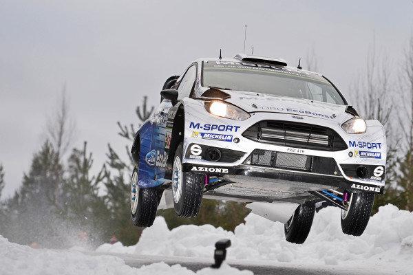 Ott Tanak (EST) / Raigo Molder (EST) Ford Fiesta RS WRC at World Rally Championship, Rd2, Rally Sweden, Preparations and Shakedown, Karlstad, Sweden, 12 February 2015.