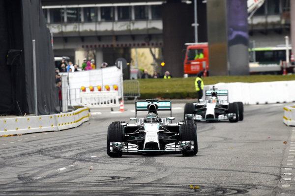 Nico Rosberg (GER) Mercedes AMG F1 W05.Mercedes-Benz Stars and Cars, Mercedes-Benz Museum, Stuttgart, Germany, 29 November 2014.
