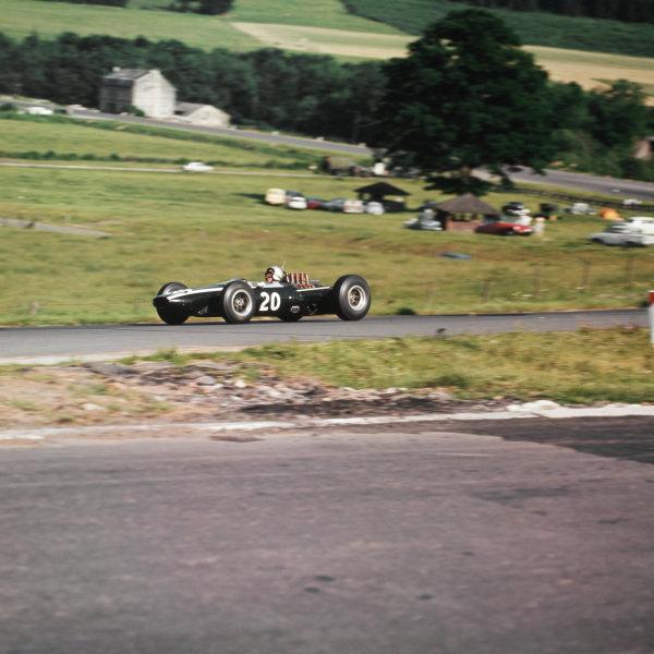 Spa-Francorchamps, Belgium.12-14 June 1964.Bruce McLaren (Cooper T73 Climax) 2nd position.Ref-3/1255.World Copyright - LAT Photographic