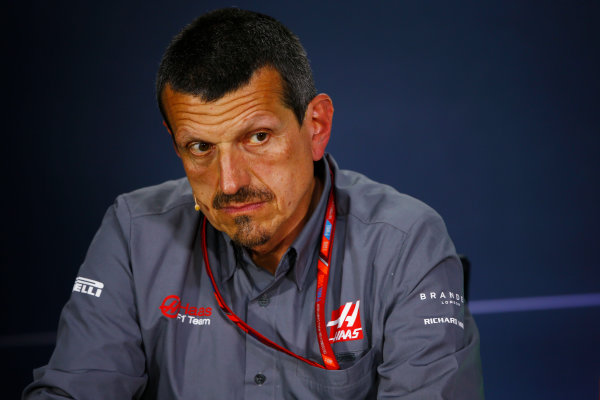 Circuit Gilles Villeneuve, Montreal, Canada. Friday 09 June 2017. Guenther Steiner, Team Principal, Haas F1, in the Team Principals Press Conference. World Copyright: Andy Hone/LAT Images ref: Digital Image _ONZ0630