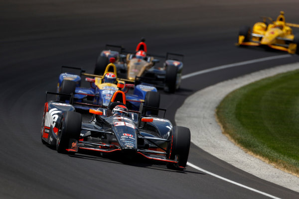 29 May, 2016, Indianapolis, Indiana, USA Alex Tagliani leads Alexander Rossi ?2016, Phillip Abbott LAT Photo USA