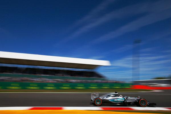 Silverstone, Northamptonshire, England. Friday 03 July 2015. Lewis Hamilton, Mercedes F1 W06 Hybrid. World Copyright: Glenn Dunbar/LAT Photographic. ref: Digital Image _W2Q2881