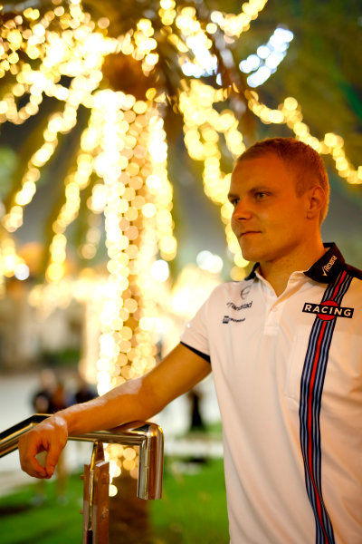 Bahrain International Circuit, Sakhir, Bahrain. Friday 17 April 2015. Valtteri Bottas, Williams F1. World Copyright: Glenn Dunbar/LAT Photographic. ref: Digital Image _W2Q7326