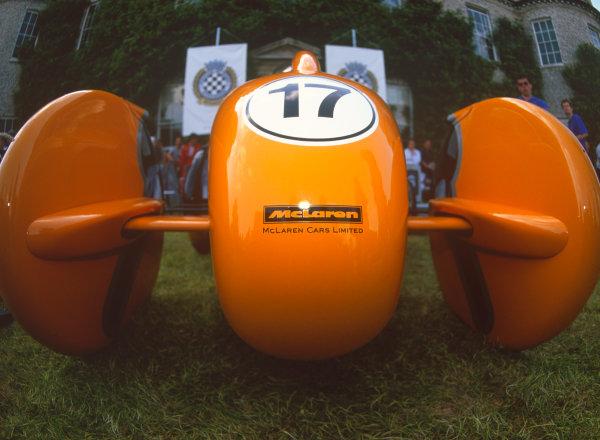 Goodwood House, East Sussex, England. 12th - 14th July 2002.Chris Goodwin (McLaren MP4-T5), Soap Box challange race, action.World Copyright: Jeff Bloxham/LAT Photographic.
