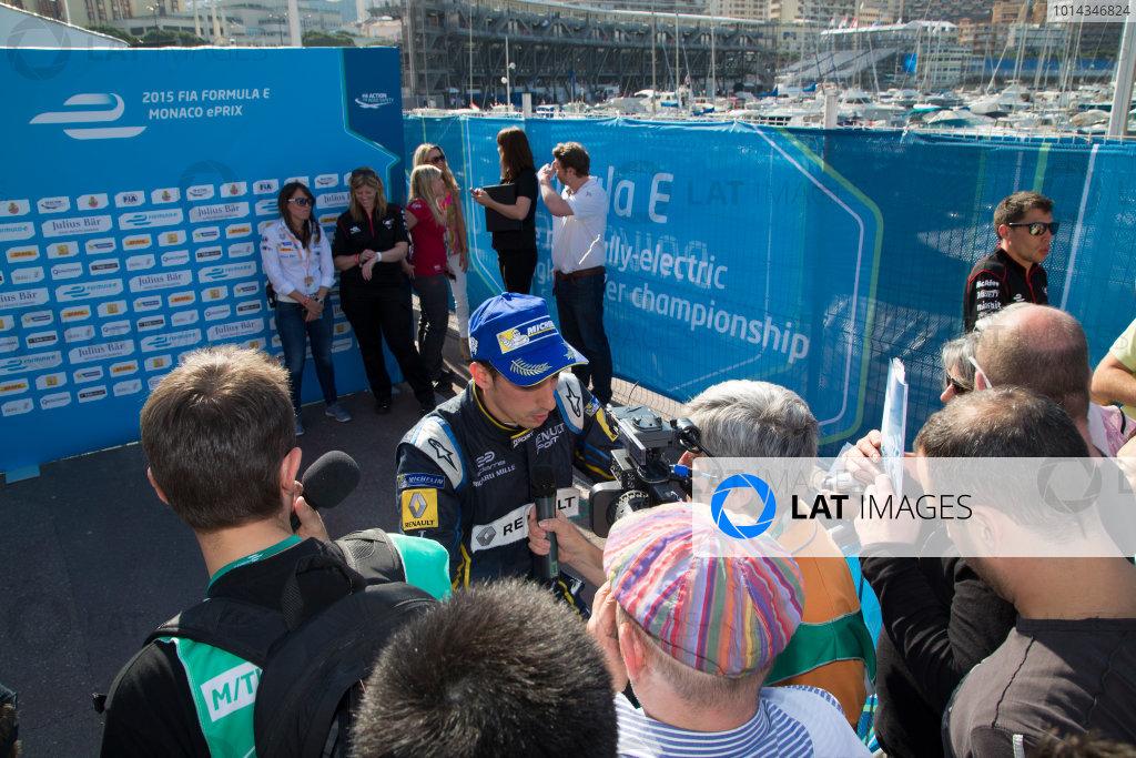 2014/2015 FIA Formula E Championship. Sebastien Buemi (SWI)/E.dams Renault - Spark-Renault SRT_01E  Monaco ePrix Race. Monaco ePrix, Monte Carlo, Monaco, Europe. Saturday 9 May 2015  Photo: Adam Warner/LAT/Formula E ref: Digital Image _L5R1540