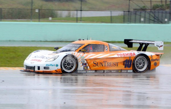 27-29 March, 2012, Homestead, Florida USA The #10 Chevrolet Corvette DP of Ricky Taylor and Max Angelelli races through the heavy rain en route to victory. (c)2012, R.D. Ethan LAT Photo USA