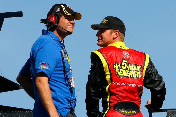 2-4 November, 2012, Fort Worth, Texas USA Michael Waltrip and Clint Bowyer.(c)2012, LAT South LAT Photo USA .