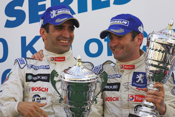 LMP1 and overall winners Marc Gene (ESP) / Nicolas Minassian (FRA) Team Peugeot Total.