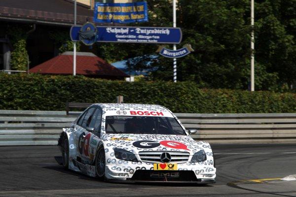 Maro Engel (GER), GQ AMG Mercedes C-Klasse (2008).DTM, Rd4, Norisring, Nuremberg, Germany. 2-4 July 2010 World Copyright: LAT PhotographicRef: Digital Image dne1003jy11