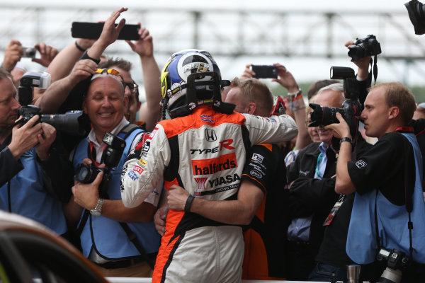 2016 British Touring Car Championship, Silverstone, 17th-18th September 2016, Gordon Shedden (GBR) Halfords Yuasa Racing, Honda Civic Type R  World Copyright. Jakob Ebrey/LAT Photographic.