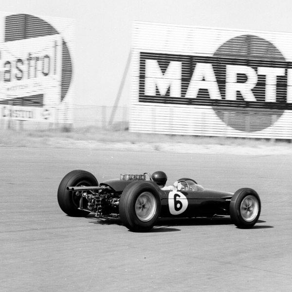 1963 Dutch Grand Prix Zandvoort, Holland 21-23 June 1963 Jim Clark (Lotus 25 Climax) 1st position Ref-19578 World Copyright - LAT Photographic