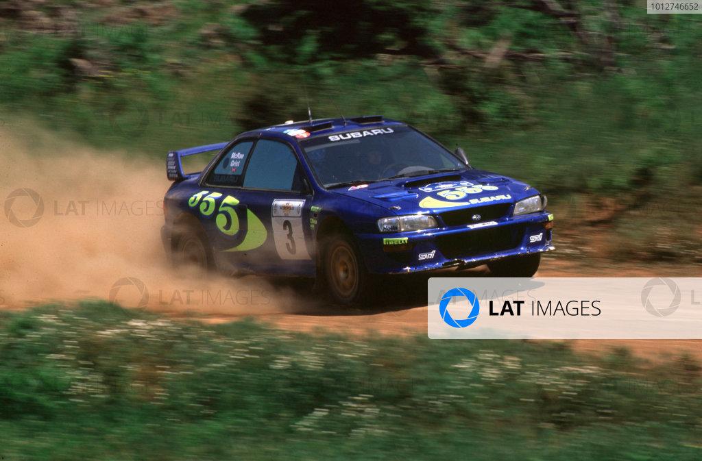 1998 World Rally ChampionshipAcropolis Rally, Greece 5-9 June 1998Colin Mcrae and Nicky Grist (Subaru Impreza WRC)1st Position.World Copyright LAT Photographic